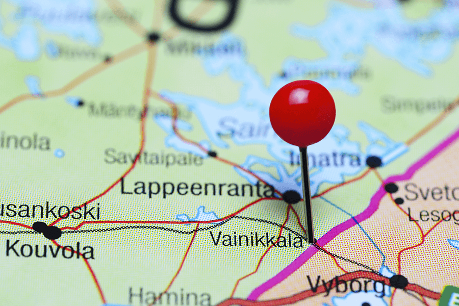 Vainikkalan asemalle Lappeenrannasta